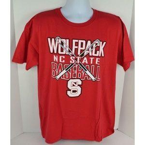 NC State Wolfpack Baseball Bats Men's T-Shirt